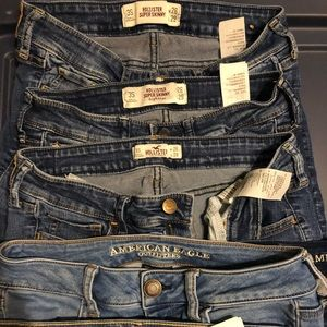 Hollister, American Eagle and Abercrombie
